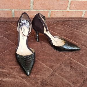 Sam & Libby Black Pumps Spikes Heels Poin Toe